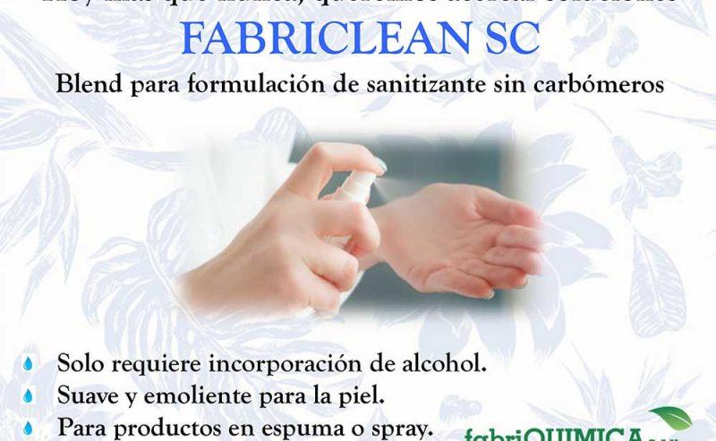 FABRICLEAN SC – Blend para formulación de sanitizante sin carbómeros.